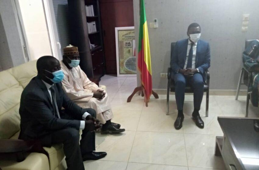 Audience à la cour constitutionnelle: Le Professeur DJOGBENOU reçoit une délégation de la Cour constitutionnelle du Niger