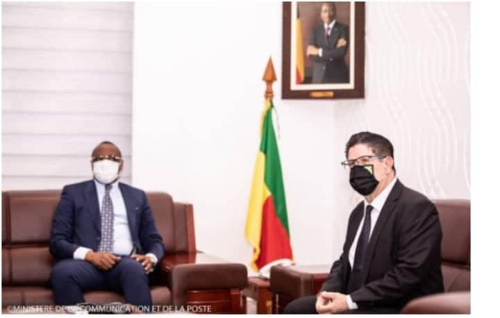 L'Ambassadeur Marc Vizy reçu par le Ministre Alain Orounla: Plusieurs projets du gouvernement au menu des échanges