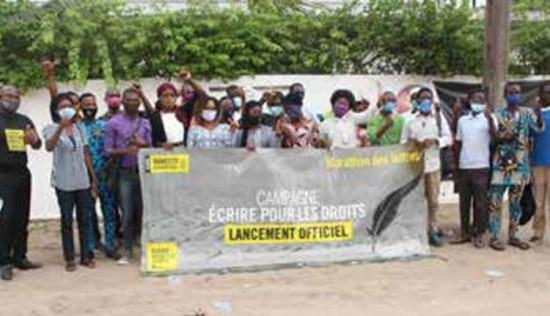 Edition 2020 de la Campagne «Ecrire pour les droits»:Amnesty International pour contribuer à la lutte