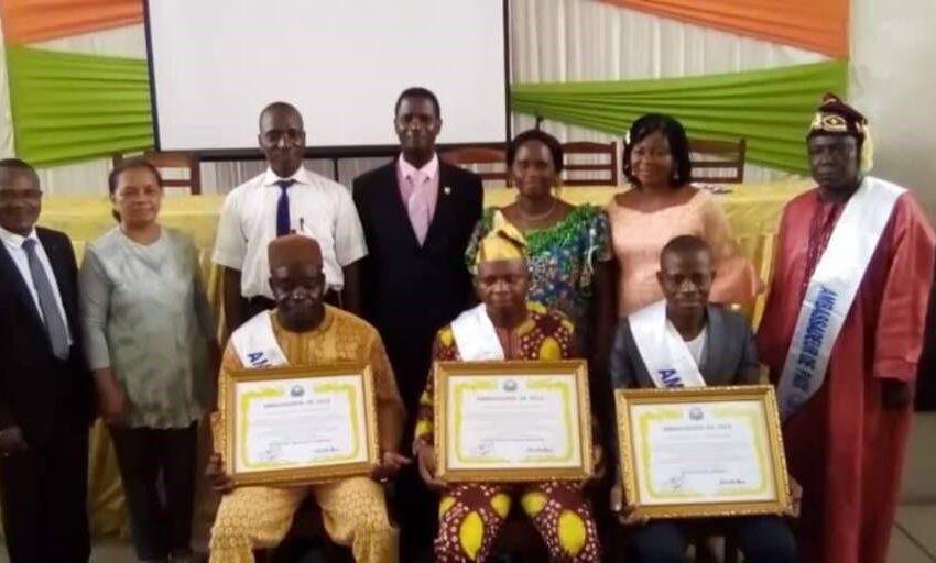 Fédération pour la paix universelle chapitre Bénin Trois nouveaux ambassadeurs accueillis
