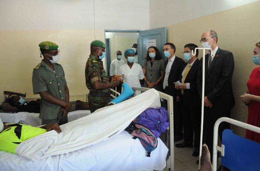 Evènements pré-électoraux: Le corps diplomatique au chevet des soldats blessés