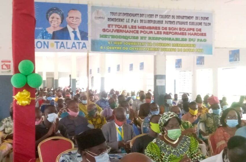 Élection présidentielle du 11 Avril prochain : Les enseignants de l'Ouémé optent pour la continuité
