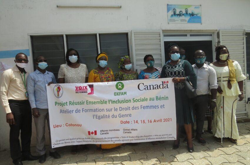 Atelier de formation sur le droit des femmes et l'égalité du genre: Pour réussir ensemble l'inclusion sociale au Bénin
