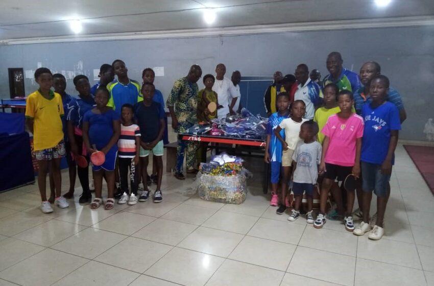 Développement du tennis de table: Ping Sans Frontière fait don de matériels sportifs à la fédération béninoise