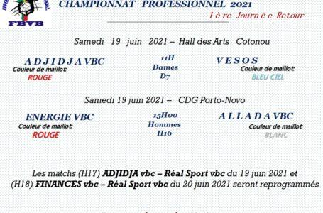 Volleyball / Phase retour du championnat pro : Allada,USB et Étoile filante pour confirmer, Finances et Vesos à l'affût