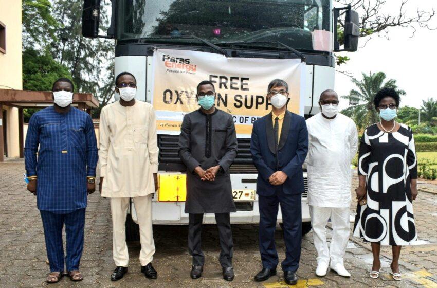 Lutte contre la Covid-19 au Bénin : Paras Energy rend disponible l'oxygène