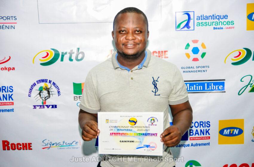 Prix de Mérite et de Reconnaissance : Gaskiyani Info distingué par la Fédération Béninoise de Volley-Ball