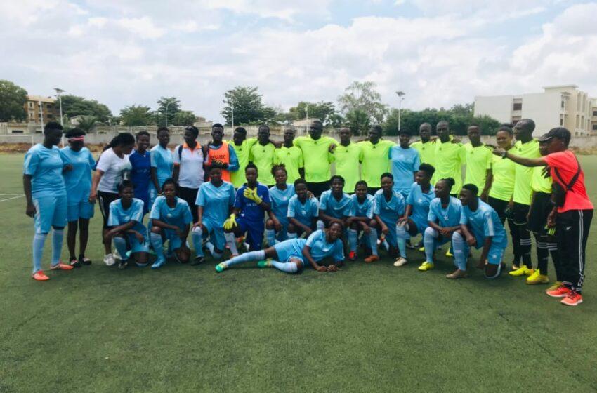 BENIN FOOT FÉMININ :Les filles de Dynamique FC jouent en match de gala contre leur Staff