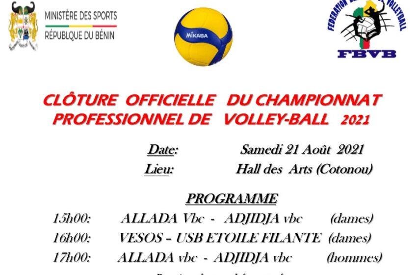Championnat professionnel de Volley-ball, saison 2020-2021: La der ce samedi