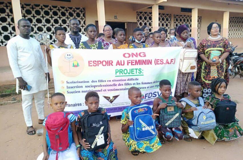 Don de fournitures scolaires aux élèves orphelines: Un geste de cœur de l'ONG «Espoir au Féminin»
