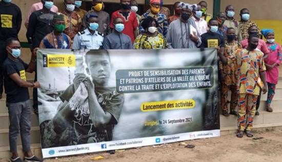 Projet de sensibilisation et d'éducation des parents : Amnesty international Bénin pour la sensibilisation