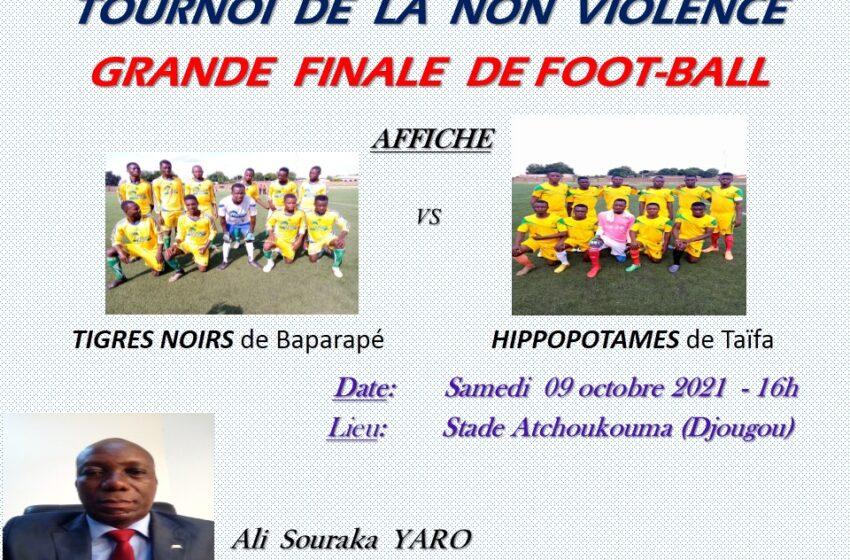Tournoi de la non violence à Djougou : Tigres Noirs vs Hippopotames, l'affiche de la finale