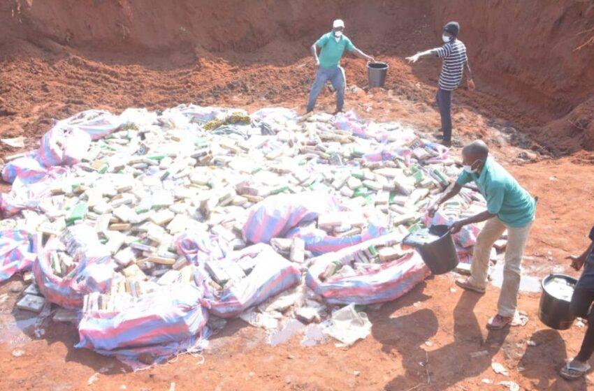 Saisies à Ekpè: Les 2,5 tonnes de cocaïne incinérées